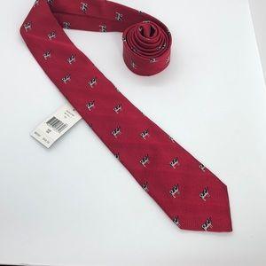 Ralph Lauren red handmade silk tie.
